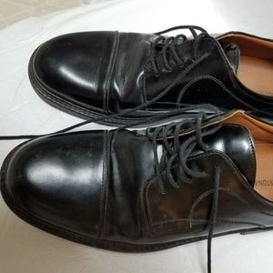 Johnston Murphy Mens 10 M Leather Shoes Solid
